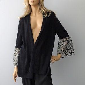 Alfani Black Bell Sleeves Cardigan New